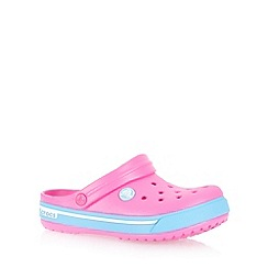 Crocs - Girl's pink 'Crocband' clogs