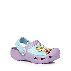 Crocs - Girl's lilac 'Frozen' clogs