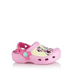 Crocs - Girl's pink 'Minnie Mouse' clogs