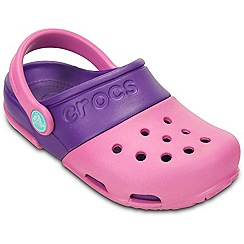 Crocs - Girl's pink panel clogs