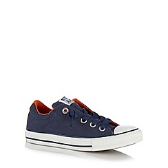 Converse - Boy's navy lace up trainers
