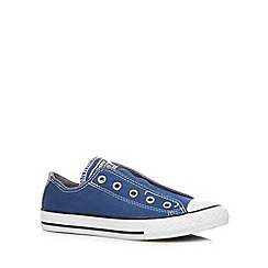 Converse - Boy's dark blue lace up trainers