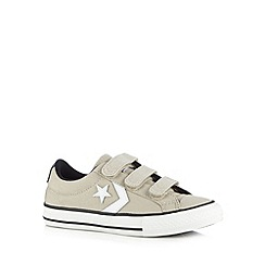 Converse - Boy's grey rip tape trainers