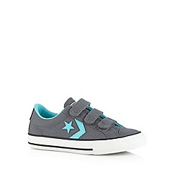 Converse - Boy's dark grey star applique trainers