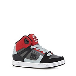 DC - Boy's red 'Rebound' high top trainers