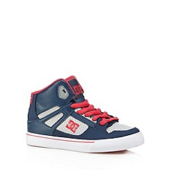 DC - Boy's blue 'Spartan' high top trainers