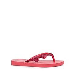 Ipanema - Girl's pink glitter bow flip flops