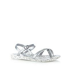 Ipanema - Girl's silver brick design flip flops
