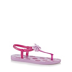 Ipanema - Girl's purple bow flip flops