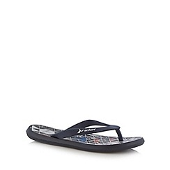 Rider - Boy's navy triangle printed flip flops
