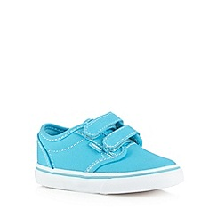 Vans - Boys bright blue two tab trainers