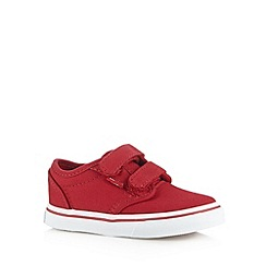 Vans - Girls red two tab trainers