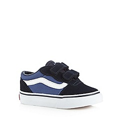 Vans - Boys navy two tab trainers