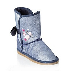 bluezoo - Girl's silver suede boots