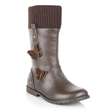 Bluezoo- Girls brown butterfly boots