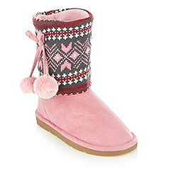 bluezoo - Girl's pink knitted boots