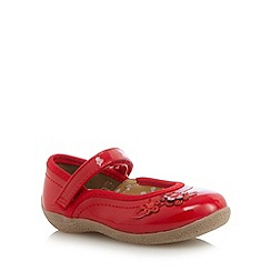 bluezoo - Girl's red patent sequin flower shoes