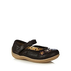 bluezoo - Girls' brown flower applique crepe shoes