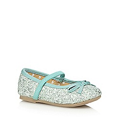 bluezoo - Girl's pale green glittery bow pumps