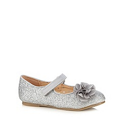 bluezoo - Girl's silver corsage detail glitter pumps