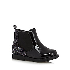 bluezoo - Girl's black glitter ankle boots