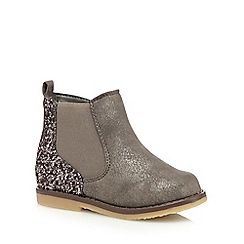 bluezoo - Girl's grey glitter ankle boots