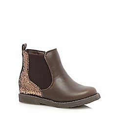 bluezoo - Girl's brown glitter chelsea boots