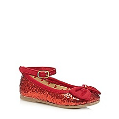 bluezoo - Girls' red glittery pumps