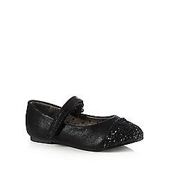 bluezoo - Girls' black glitter toe pumps