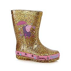 Peppa Pig - Gold 'Peppa Pig' wellies