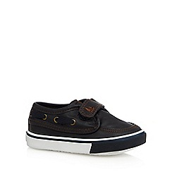 bluezoo - Boy's navy PU rip tape boat shoes