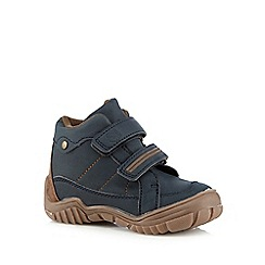 bluezoo - Boy's navy tab walking boots