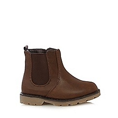 bluezoo - Boy's tan chelsea boots