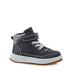 Mantaray - Boy's navy rip tape lace up boots