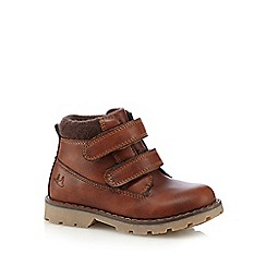 Mantaray - Boys' dark tan two tab boots