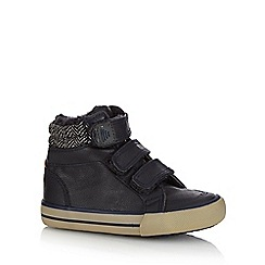 bluezoo - Boys' navy fleece cuff tab boots