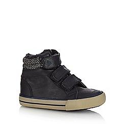 bluezoo - Boys' navy fleece cuff tab boots