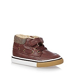 bluezoo - Boys' dark red boat boots