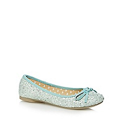 bluezoo - Girl's pale green glitter pumps