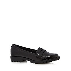 bluezoo - Girl's black patent loafers