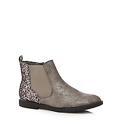 bluezoo - Girl's grey glitter chelsea boots