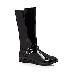 bluezoo - Girls' black patent riding boots