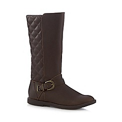 bluezoo - Girls' brown quilted riding boots