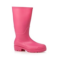 bluezoo - Girls' pink wellington boots