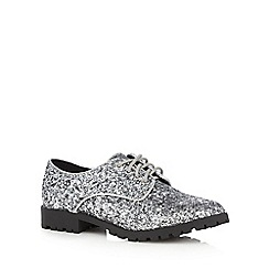 bluezoo - Girls' silver glitter brogues