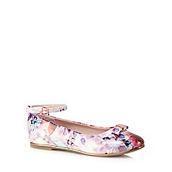 Baker by Ted Baker - Girls' pink floral printed pumps