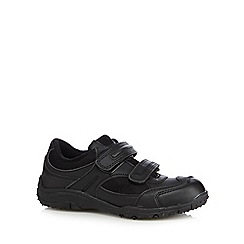 Debenhams - Boy's black rip tape school trainers