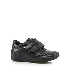 Debenhams - Boy's leather rip tape school shoes