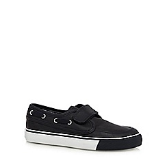 bluezoo - Boy's navy PU boat shoes