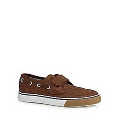 bluezoo - Boy's tan PU boat shoes